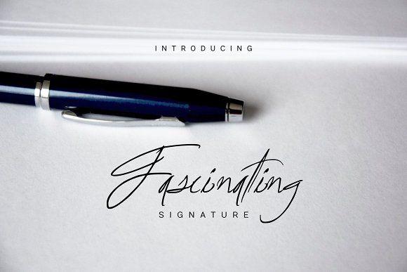 Fascinating Signature font - hand-drawn script font, great for logo signatures
