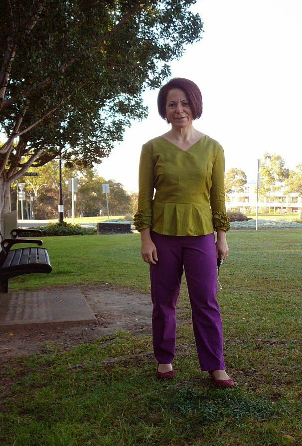 minerva sponsored trousers and Olive top tested for lolita patterns Day 14