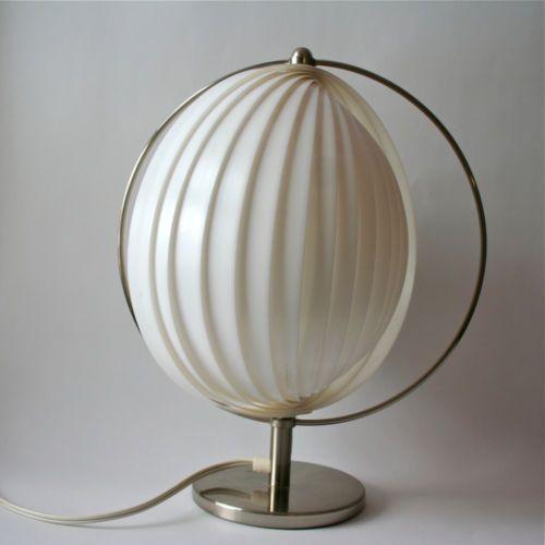 verner panton style moon table desk lamp space age kartell. Black Bedroom Furniture Sets. Home Design Ideas
