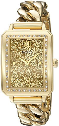 GUESS Women's U0896L2 Trendy Gold-Tone Watch with Gold Dial , Crystal-Accent...