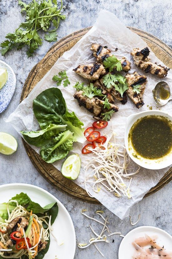 Chicken Satay Lettuce Wraps