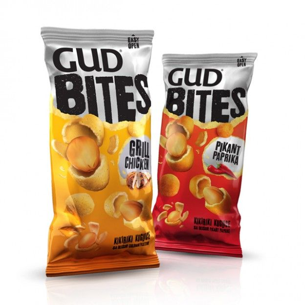 Gud Bites single serving pillow bag packaging. to order it, contact us. #sachet #plastiques #plastic #bags #pillow #single #serve #emballage  #zip  #sacs#souple #packaging