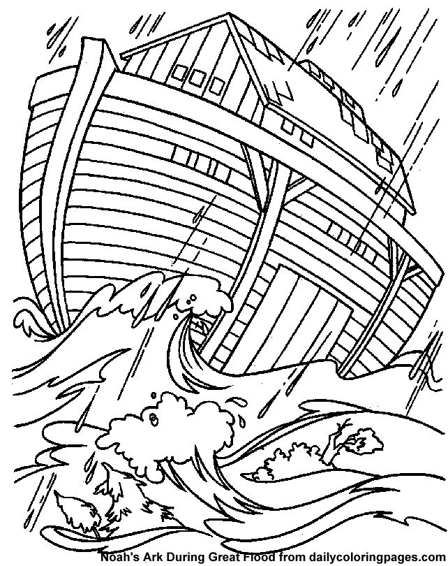 Noahs ark storm bible coloring sheets