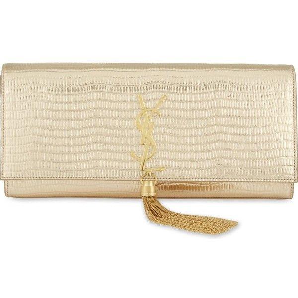 SAINT LAURENT Monogram tassle leather clutch (¡ê990) ? liked on ...
