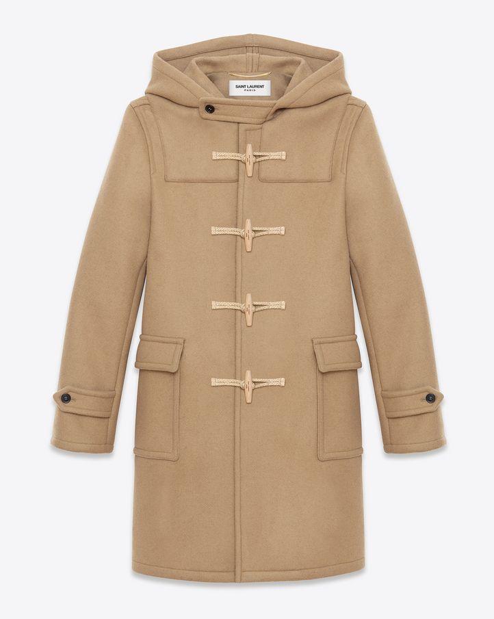 saintlaurent, Duffle-coat en laine camel