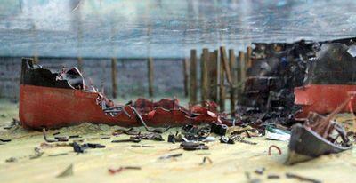 Explosion del Cabo Machichaco-restos-diorama
