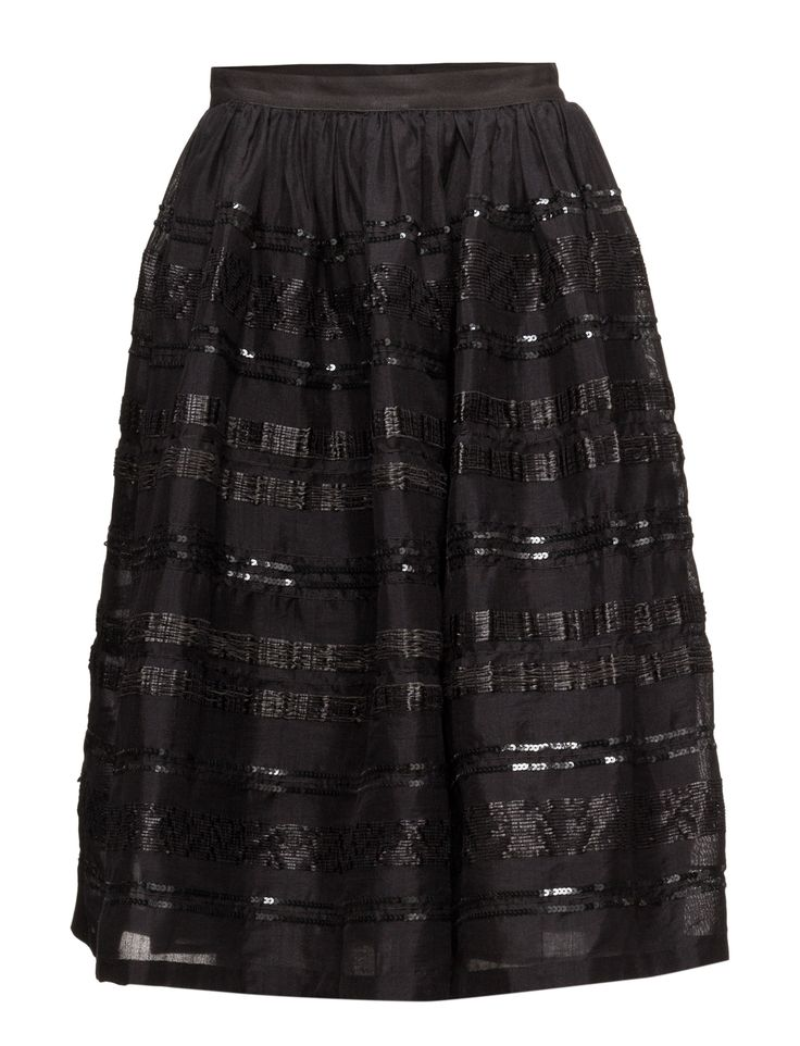 DAY - Day Wasthuwa Elegant black skirt with many lovely details. DAY Wasthuwa is a beautiful piece perfect for both day and night. The skirt is a classic and a must have in any woman's wardrobe. Style it in any way you like.  Sequins and beading A-line design Elastic waistband Elegant and feminine