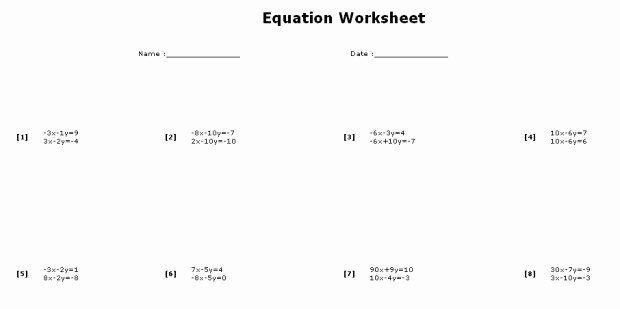 Solving System By Elimination Worksheet New Solving Systems Equations By Elimination Worksheet In 2020 Worksheets Solving Proportions Worksheet