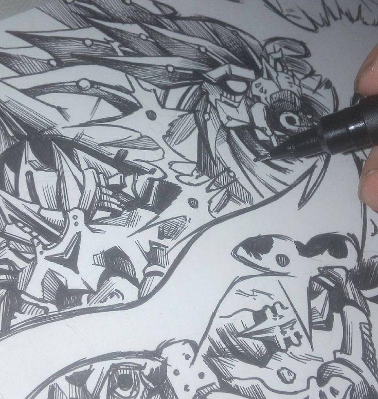 Creo que cuando termine el cómic voy a estar una temporada sin dibujar robots... #manga #comic #anime #mecha #robot #cyborg #mechanic #ink #art #instaart #instaartist #artofinstagram #drawingday #drawing #traditionalart #handmade #instagood #handdrawn #unipin #drawingoftheday #picoftheday #workinprogress #wip