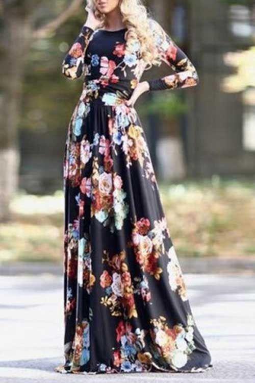 Uzun Yazlik Cicekli Elbise Modelleri Elbise Uzun Elbise Elbise Modelleri