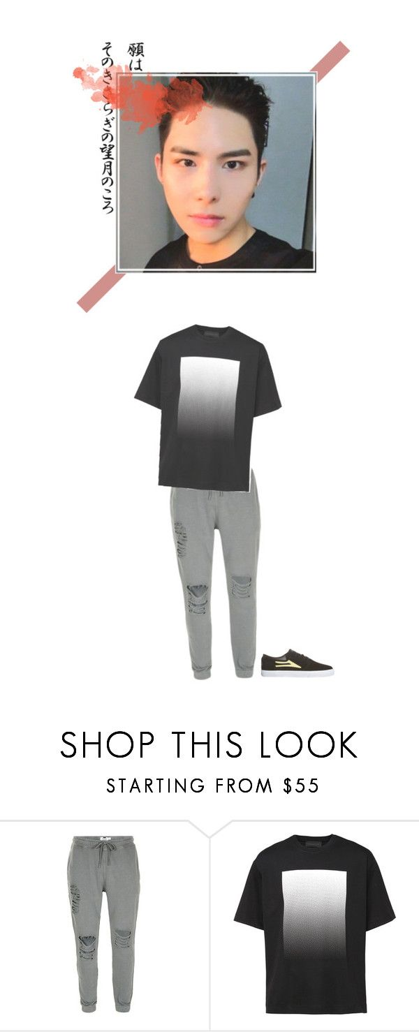 """- aa celebration dance practice with d.h."" by sehyoon ❤ liked on Polyvore featuring Diesel, Lakai, men's fashion and menswear"