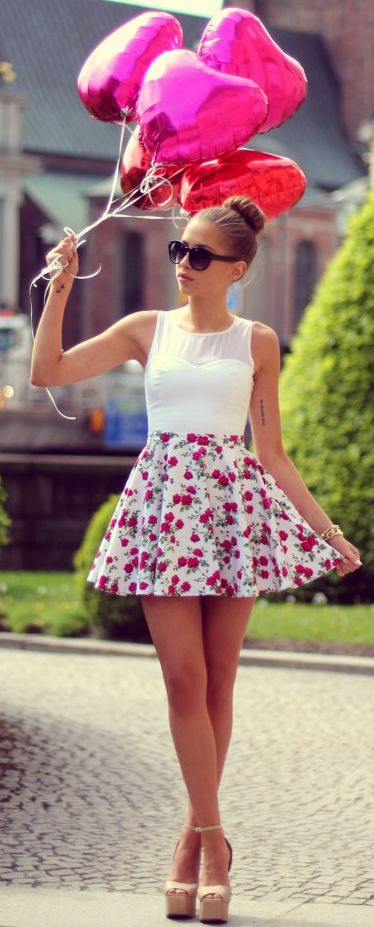 Perfect Birthday outfit!! To wear on your birthday and you can also wear your hair down!
