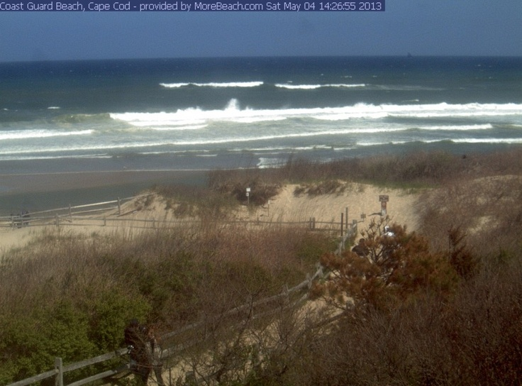 Coast Guard Beach web cam. You can call home and tell them to watch you waving on the internet.  But don't really wave. Stand still like you are waving because the camera only takes stills every few seconds, it's not like a movie.
