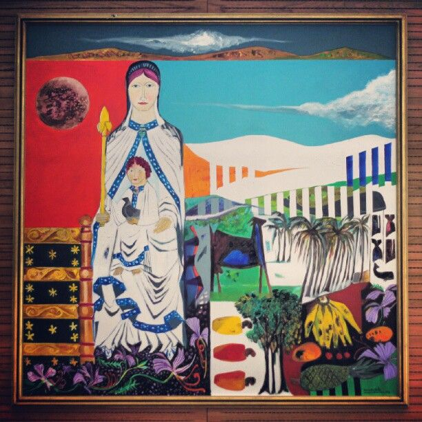 African Alma Mater, #paint, salle André Oleffe, #UCL, Louvain-la-Neuve, #LLN, Journées du patrimoine 2012