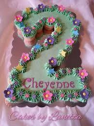 Resultado de imagem para bolo decorado em forma de numero 2