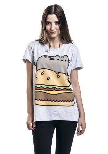 """Maglietta donna a maniche corte """"Pusheen Burger"""" di #Pusheen."""
