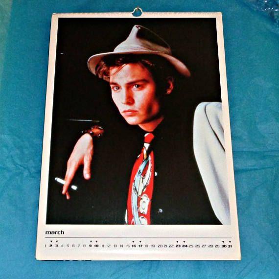 Very Rare Johnny Depp 1996 Culture Shock Calendar Film