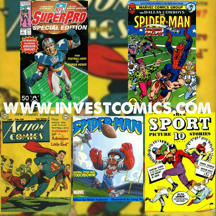 With the NFL and it's Superbowl on center stage today, football has never been a stranger within the comic book genre. Enjoy the game! Read comics! #InvestComics #superbowl #nfl #comics #marvel #dc #marvelcomics #dccomics #superman #spiderman #superbowlsunday