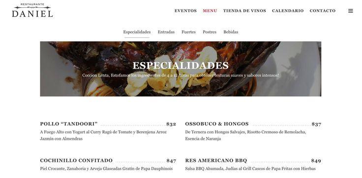 Los invitamos a conocer nuestra nueva pagina web, donde encontraran todo sobre nuestro menu y nuestra casa! Www.daniel.com.co/menu/