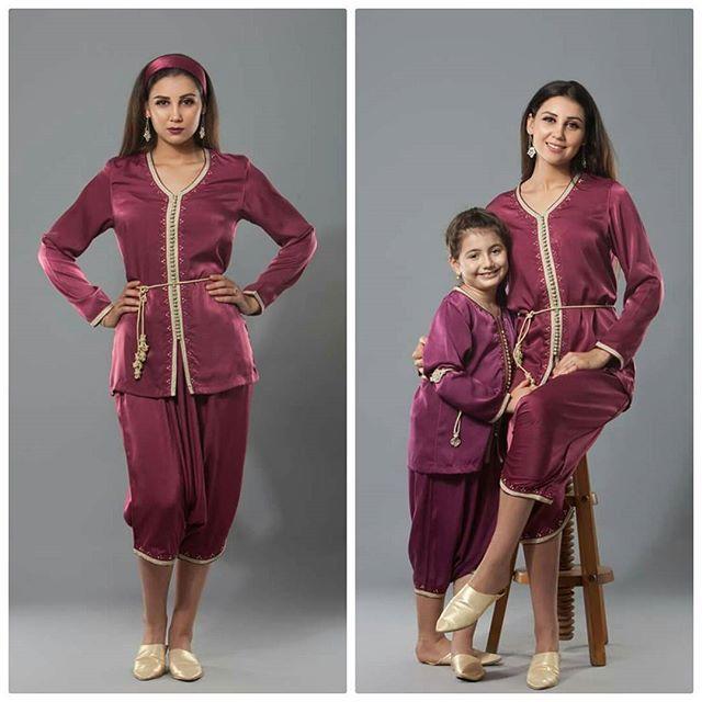 Telle mère, telle fille ! Jabador Batoul disponible en magasin ;) Seulement 579 dhs pour adulte et 299 dhs pour fillette. #Nouvellecollection #newcollection #automnehiver2017 #ah17 #bydiamantine #diamantine #creation #skali #zwak #broderie #perlage #lebssa #tekchita #kaftan #caftan #gandoura #maroc #algerie #emirates #dubai #abudhabi #saudiwomen #blogger #blogeuse #follow4follow #likeforlike