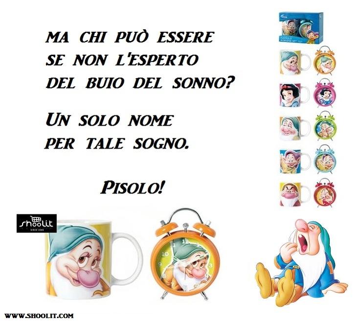 """Set Disney on Shoolit.com - Tazza Disney Mug + Sveglia Disney """"Biancaneve e i 7 Nani"""" - http://www.shoolit.com/it/disney-articoli-vari/706-disney-mug-e-sveglia-sette-nani-.html"""
