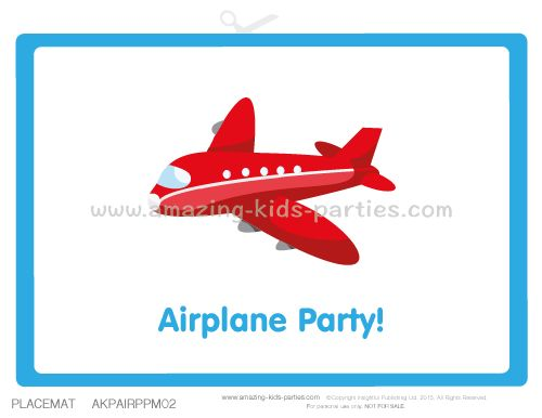 These supersonic FREE printable airplane theme party decorations will have the kids flying high with excitement!