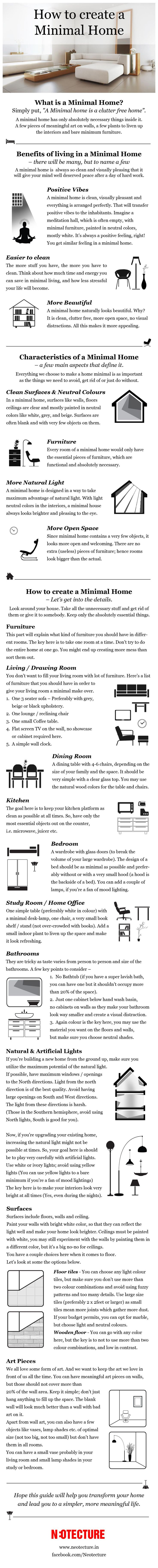 How to Create a Minimal Home - Infographic (1)