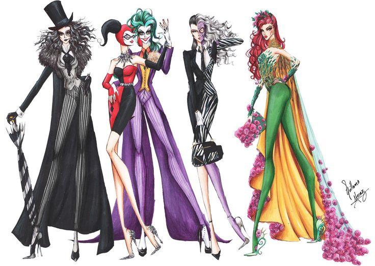 Batman Villains Fashion Collection by frozen-winter-prince.deviantart.com on @DeviantArt