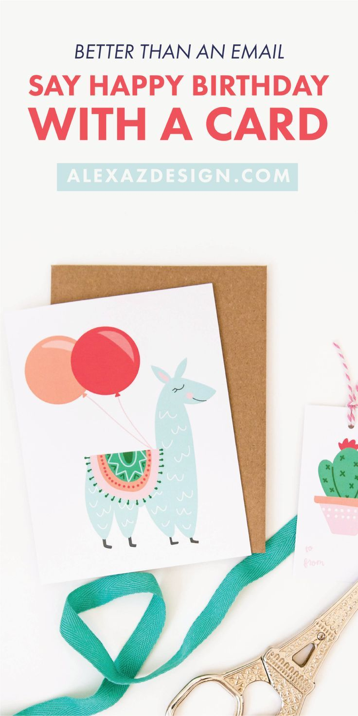 Better Than An Email Pretty Birthday Cards And Stationery From Alexa Z Design Alexazdesign Handlettering Birthdaycard Birthdayparty