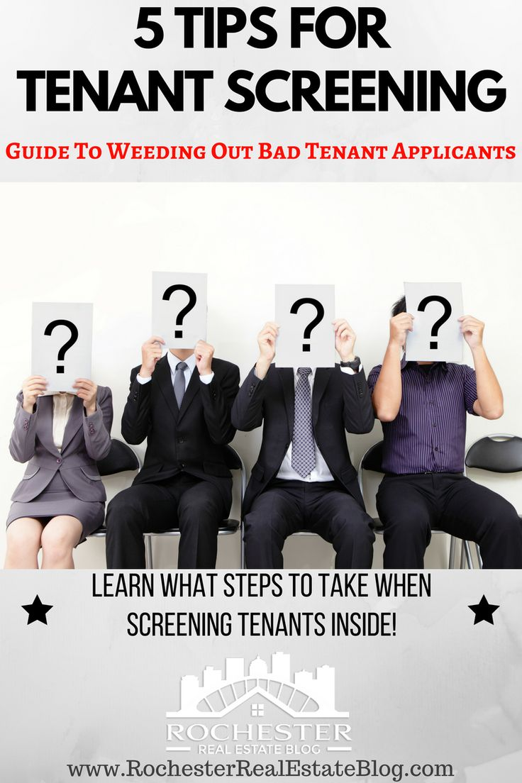 Are you looking for tips on tenant screening? You've come to the right place! Here are 5 tips for tenant screening to help weed out bad tenant applications! https://www.rochesterrealestateblog.com/tips-for-tenant-screening/ via @KyleHiscockRE