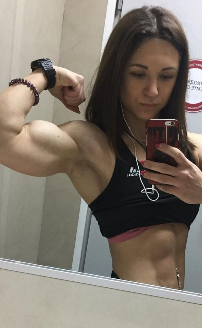 Fitness Muscle Motivation Girlpower Biceps Flex -8044