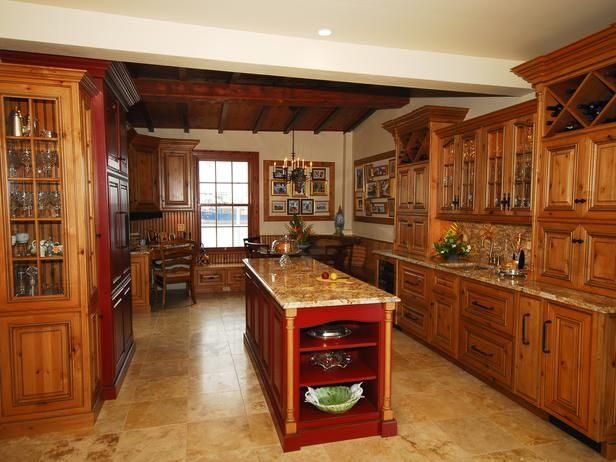 Designer 39 s notes the knotty alder and painted hickory for Cedar kitchen cabinets