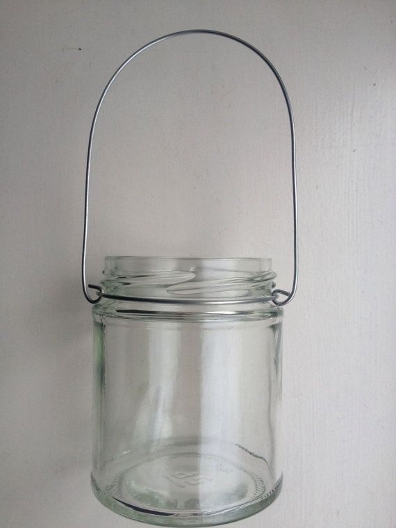 Shabby chic glass mason jar hanging tea light by Purplecats4