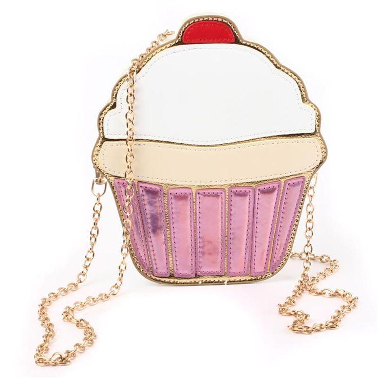 Cadeia de embreagem Crossbody Bag 2015 saco da senhora ombro menina queque bolsa pequena bonito Mini saco de creme bolo padrão de Design de moda estilo em Sacos de ombro de Bagagem & Bags no AliExpress.com | Alibaba Group