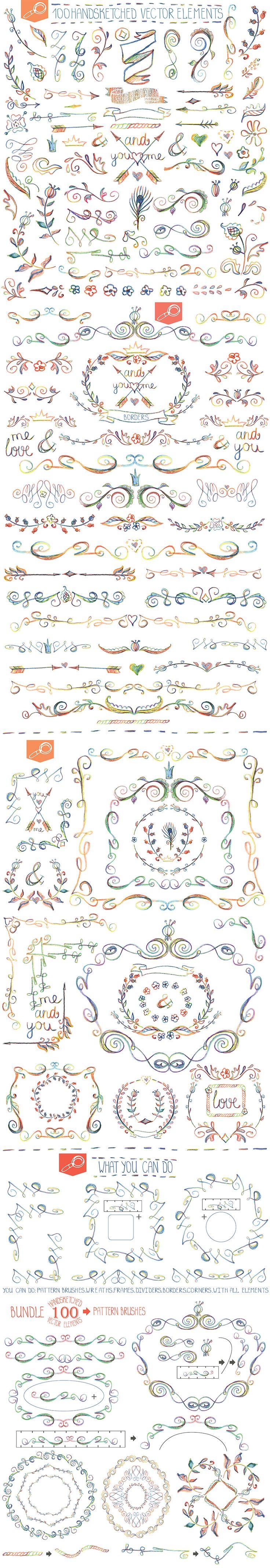 Handsketched designer Bundle Vector