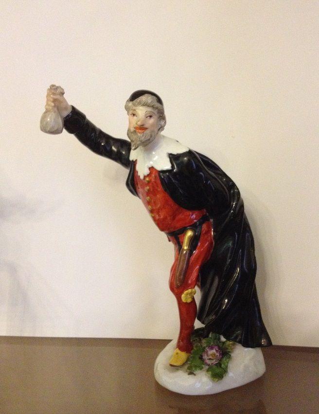 Pantalone, Meissen, attribuibile a P. Reinicke, metà del XVIII secolo, Porcellana dura dipinta in policromia e oro, museo Giuseppe Gianetti, Saronno #commedia #maschera #carnevale
