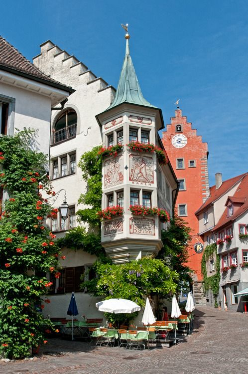 Meersburg in Baden-Württemberg, Southwestern Germany,