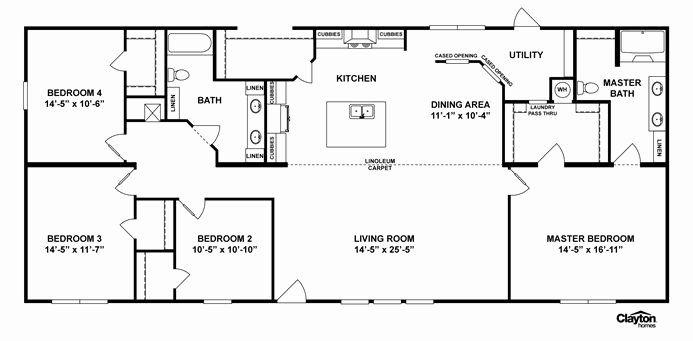 4 Bedroom Barn House Plans Lovely Interactive Floorplan M165 Terminator Iv 32x70 Ranch House Floor Plans Floor Plans Modular Home Plans