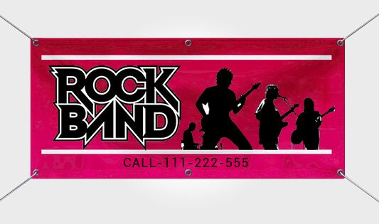 Advertise your shows, concerts and gigs with custom band banners designing and printing online from BannerBuzz.