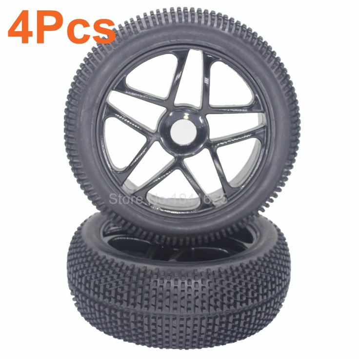 "4pcs 3.2"" inch 17mm Hub Wheels Tires 115mm For RC 1/8 Off Road Buggy Car #Affiliate"