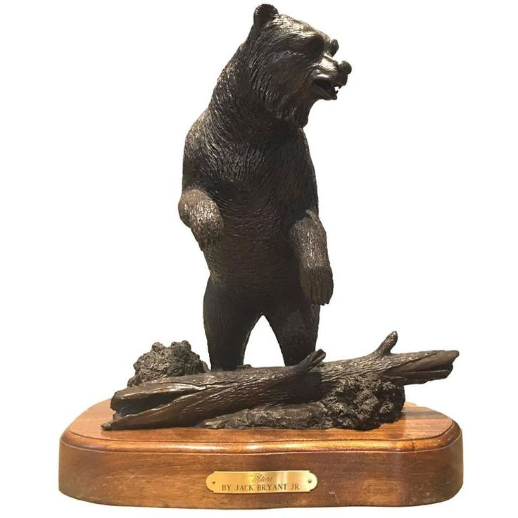 Bronze Bear Statue   From a unique collection of antique and modern sculptures at https://www.1stdibs.com/furniture/decorative-objects/sculptures/