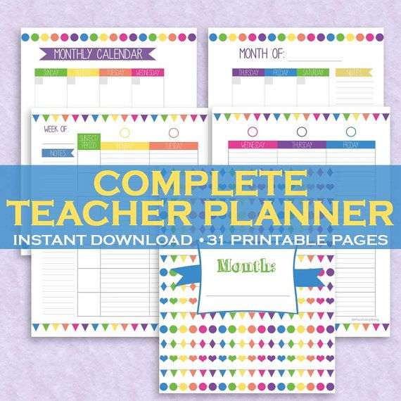 The 25+ best Printable teacher planner ideas on Pinterest - classroom calendar template