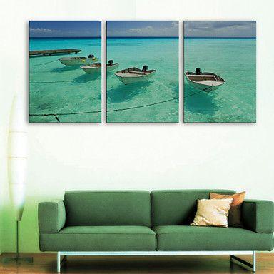 e-home® CANVAS és o mar navio set pintura decorativa, de 3 de – EUR € 68.68
