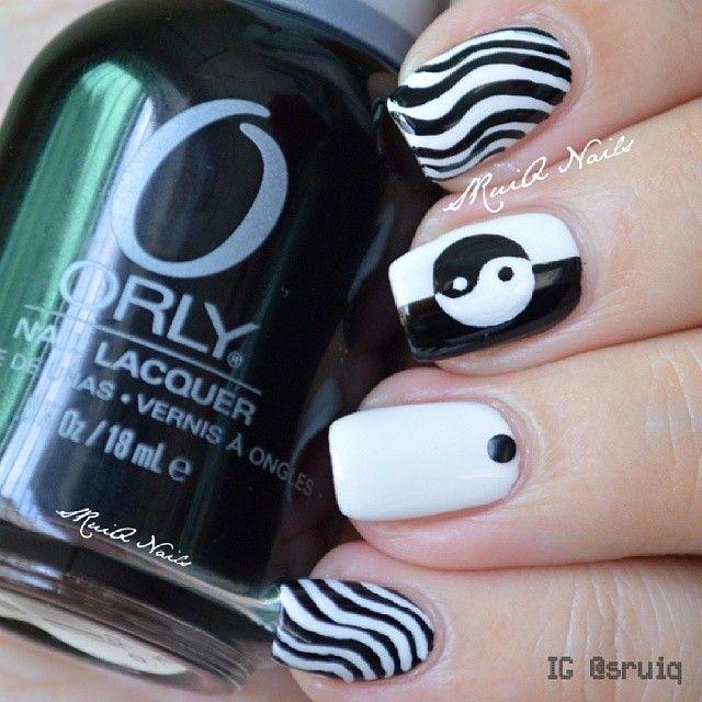 Instagram media by sruiq -  Yin Yang #nail #nails #nailart