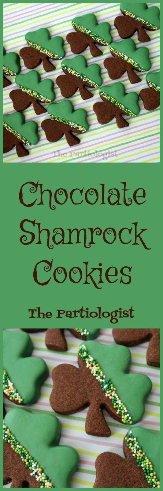 I think the better title for the post should be Lucky Shamrocks. Because whoever (or is it whomever?) receives the cookies is one lucky le...