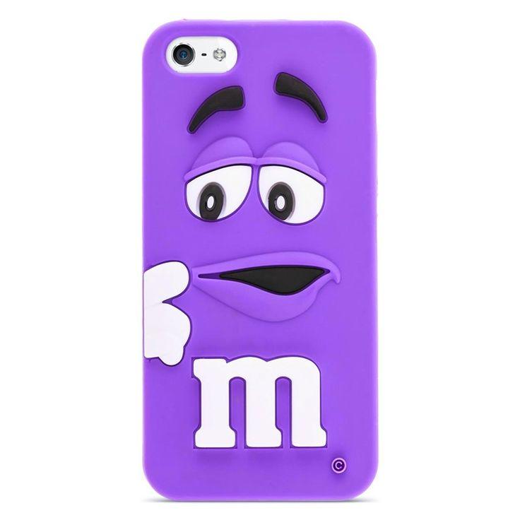 Silikonový kryt M&M pro iPhone 5/5s fialový #AllCases.cz #kryt #case #sleva #iphone #iphone5 #iphone5s