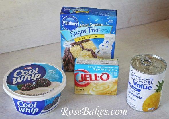 Sugar Free Pineapple Lush Cake Ingredients