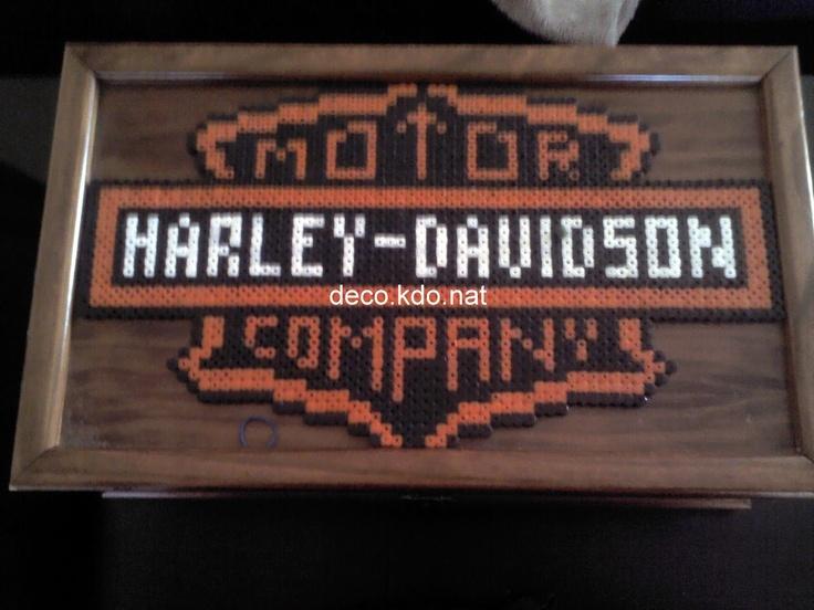 Harley davidson perles hama par deco kdo nat harley for Decoration maison harley davidson