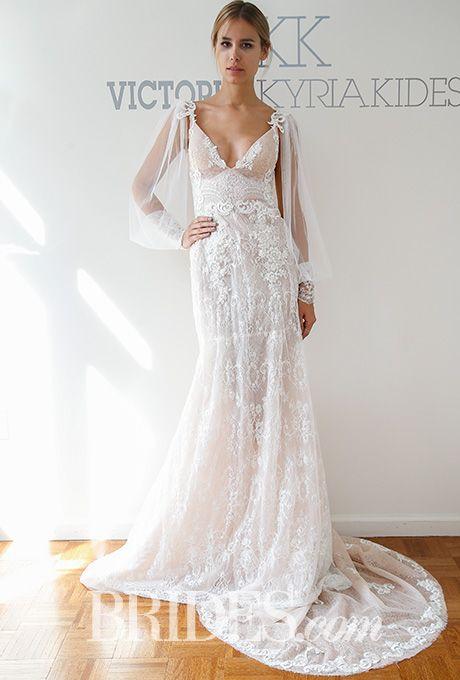 Brides: Victoria Kyriakides Wedding Dresses - Fall 2016 - Bridal Runway Shows - Brides.com