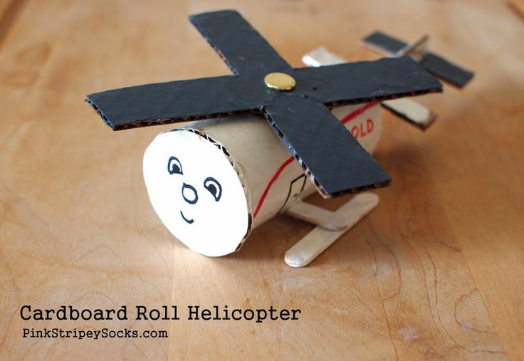 Toilet Roll Helicopter Craft